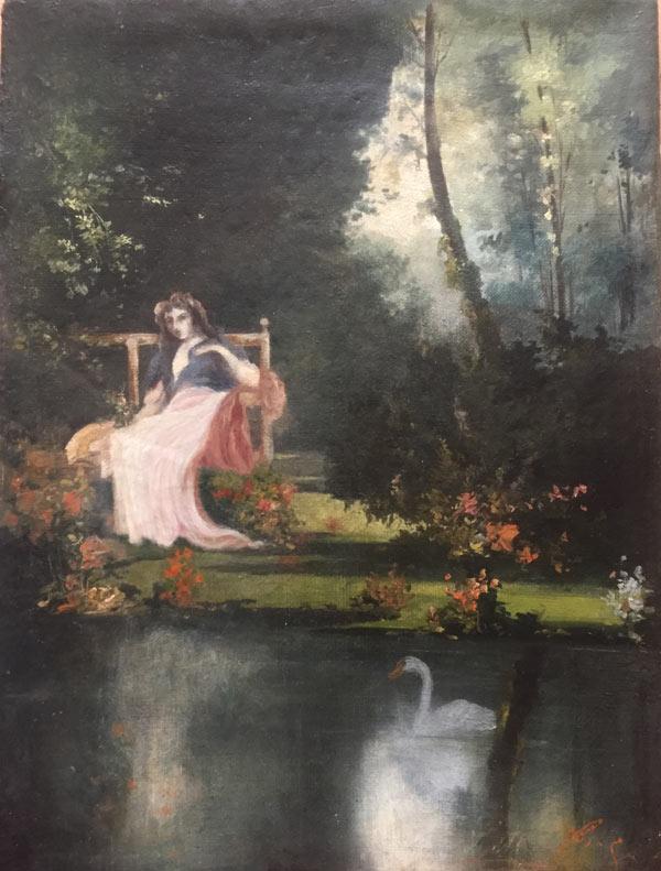 Jeune fille au board de l'eau