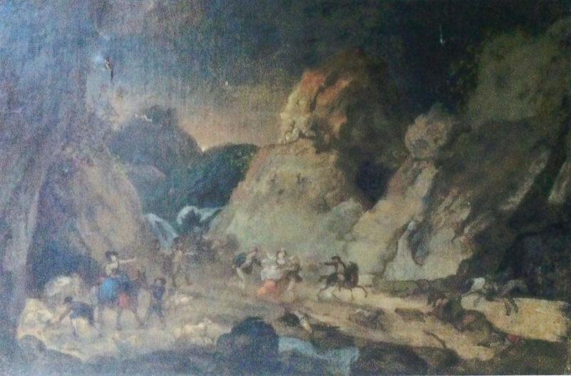 Une attaque de brigands dans le défilé des infernets